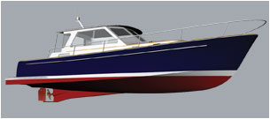 Abaco 40 Hull Form